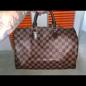 Louis Vuitton Monogram Damier Ebene Speedy 30 Bag